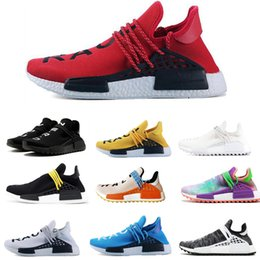 27a6dc065 Human Race Running Shoes for Mens Women Pharrell Williams HU Runner Yellow  Black White Red Grey Blue Casual Shoe Sports Sneakers Size 36-47