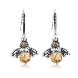 Heißer Verkauf Echtes 925 Sterling Silber Schöne Orange Biene Tier Ohrringe für Frauen Edlen Schmuck Geschenk Bijoux YMSCE149 im Angebot