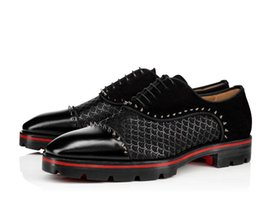 flattering line dresses Canada - Elegant Gentleman Wedding,Dress,Party Red Bottom Champignac Flat Loafers With Spikes Genuine Leather Lined Lug Sole Luxurious Moccasin