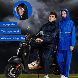 motorcycles rain suit Australia - Raincoat Suit Impermeable Women Hooded Motorcycle Poncho Bicycle Rainwear Hiking Fishing Rain Gear for Men height 150-190 cm
