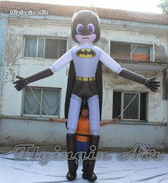 Wholesale Customized Hand Controlled Inflatable Batman Marionette Puppet m Height Cartoon Image Walking Blow Up Batman Costume For Parade Show