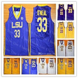 jersey sales Australia - Cheap Men LSU Tigers College Basketball Shaquille 33 ONeal O Neal Ben 25 Simmon Stitched NCAA Jerseys High Quality Free Shipping Hot Sale