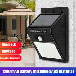 outdoor green power solar lights Australia - LED Solar Power PIR Motion Sensor Wall Light 20 LED Outdoor Waterproof Energy Saving Street Yard Path Home Garden Security Lamp