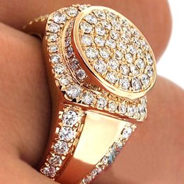 $enCountryForm.capitalKeyWord NZ - Luxury Men's Ring Hip Hop Iced Out High Quality Micro Pave Cz Finger Ring Gold Color Rings For Men Women O5m169