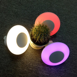small plug night lamp NZ - Lucky2019 Outdoors Bluetooth Loudspeaker Box Small Night-light Colorful Led Desk Plug-in Card Radio Reception More Function Audio Lamp Gift