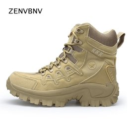 Camp Shoes For Men Australia - Zenvbnv 2018 Hiking Shoes Mountain Sneakers For Camping Climbing Imported Suede Outdoor Sports Shoes Tactical Men Combat Boots #4502