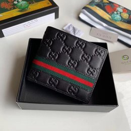 Best Brand leather purses online shopping - black best quality designer wallet with box women brand Genuine Leather square wallet luxury purse women cardholder