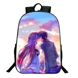 Art Canvas Prints Australia - Anime Sword Art Online Printing Children Girls School Bags For Teenage Casual Daily laptop Backpacks Z016
