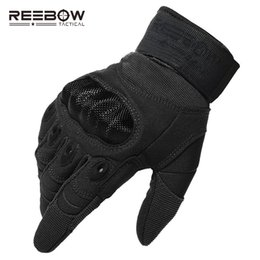 full military gear NZ - Reebow Tactical Military Outdoor Hard Knuckle Gloves Full Finger Motorcycle Gloves Army Gear Sport Shooting Paintball Hunting