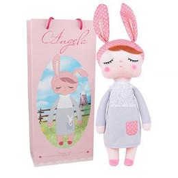 $enCountryForm.capitalKeyWord Australia - Boxed Metoo Doll Kawaii Plush Soft Stuffed Plush Animals Baby Kids Toys for Children Girls Boys Birthday Christmas Angela Rabbit