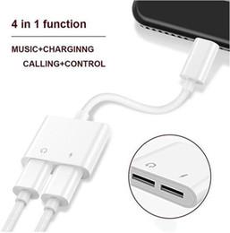 2 in 1 Doppeladapter 3.5mm zum Beleuchtungs-Kopfhörer-Audioladegerät-Verbindungsstück-Kabel für iPhone X XR 7 8 Neueste Version IOS 10.3 schnelles Aufladen im Angebot