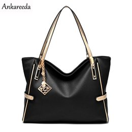 Ladies Grey Handbags Australia - Ankareeda All Seasons Embossed Luxury Leather Women Bags Famous Brand PU Leather Handbags Ladies Casual Shoulder Crossbody Bags