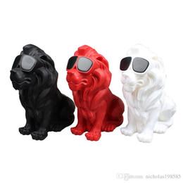 $enCountryForm.capitalKeyWord NZ - CH-M19 Lion King Modelling Cartoon Cute Pets Mini Protable Bluetooth Wireless Speakers Subwoofer MP3 Music Player Tables Loudspeakers