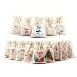 $enCountryForm.capitalKeyWord Australia - 16x23.5cm Christmas Candy Bag Canvas Gift Bags Santa Deer Elk Ride New Year Xmas Nevidad Best Gifts For Kids Event Party Decor