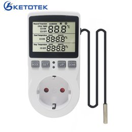 thermostat controller Canada - KT3100 Multi-Function Thermostat Temperature Controller Socket Outlet With Timer Switch 16A 220V Heating Cooling Timing Mode