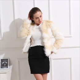 $enCountryForm.capitalKeyWord NZ - Luxury Faux Warm Women Coat 2019 Winter New Korean Fresh Slim Lap top Short White Ins Long Sleeve Faux Fur Coat