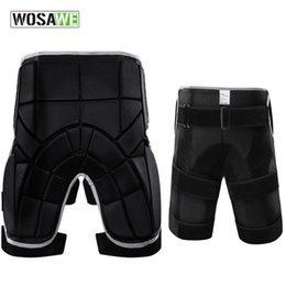 Discount ski hip pad WOSAWE Skateboarding Padded Shorts Outdoor Sports Removable Protective Hip BuPad Shorts Ski Skate Snowboard Activity Sho