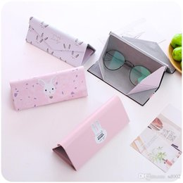 folding sunglasses wholesale Australia - Fold Stereo Triangle Glasses Case Flamingo Wallet Shape Sunglasses Box Spectacles Casket New Unicorn Student Men And Women 5xrb1