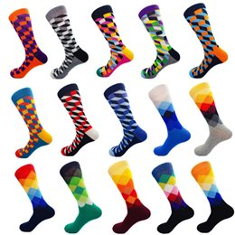 a880c54d58 Over knee high sOcks mens online shopping - 15Colors mens combed cotton happy  socks couple s
