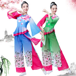 Chinese women uniform online shopping - Yangko Costume Acting Uniform Chinese Folk Dancing Costume Female Classical Dance Stage Show Clothing National Dancewear