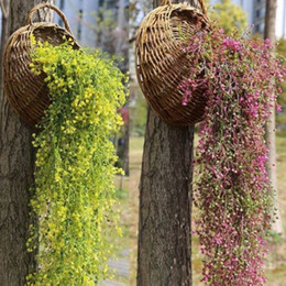hanging basket fake plants Australia - Artificial Hanging Ivy Fake Foliage Leaf Flowers Plants Pot Basket Garden Home Party Decor Realistic Wisteria Garland
