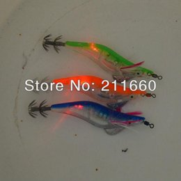 $enCountryForm.capitalKeyWord Australia - Wholesale-Wholesale - fishing lures LED squid jig fishing tackle flash fishing bait 3.0# 12.5cm with retail package 4pcs Free Shipping