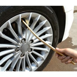 engine cleaning NZ - Auto Engine Cleaning Brush Car Rim Wheel Tire Cleaning Multi-function Bamboo Handle Mane Brushes Car Wash 40CM out bend