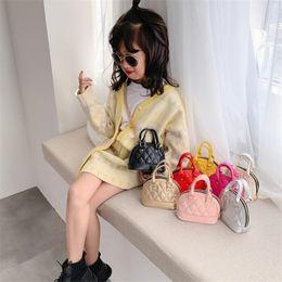 8 color Kids Shell bag Korean Style Embossed Pattern Handbag Baby Toddler Girls Crossbody Mini Chain Shell Bags purse kid handbag JJ476 on Sale