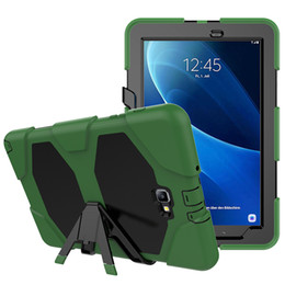 "$enCountryForm.capitalKeyWord Australia - Shockproof Army Military Duty Armor Hybrid Impact Resistant Silicon Case Drop resistance Cover For Samsung Tab4 7.0 "" T230+Stylus"