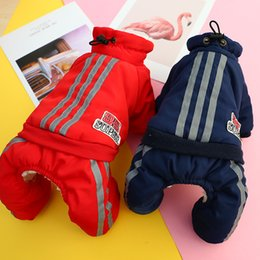 dogs winter jumpsuit Australia - Warm Winter Pet Dog Jumpsuits Overalls Clothes Thick Dog Coat Jacket for Small Dogs Clothing Chihuahua Teddy Pet Outfit Clothing