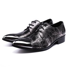 $enCountryForm.capitalKeyWord Australia - High Quality Pointed Toe Lace up male paty prom shoes Man Dance Prom Footwear Genuine Leather Derby Men's Modern Wedding Party Shoes