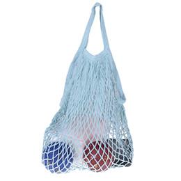Turtle Bags Wholesale UK - Mesh Net Turtle Bag String Shopping Bag Reusable Fruit Storage Handbag Totes Women Shopping Mesh New