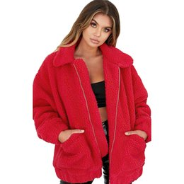 $enCountryForm.capitalKeyWord Australia - Autumn Winter Warm Fluffy Jacket Female Coat Oversized Soft Lapel Loose Fur Outwear Casual Jacket Zipper Parka Sweaters #Y3