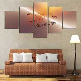 Word Art Canvas Prints Australia - Be Happy Spirit Words Not Framed Painting Modern Poster HD Printing Living Room Decor Picture 5 Panels Creative Canvas Wall Art