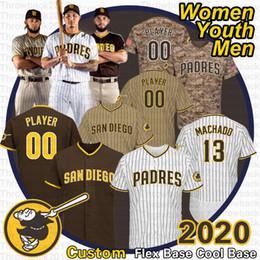 Tony gwynn jerseys online shopping - Custom Padres Jerseys Fernando Tatis Jr Manny Machado Tony Gwynn Eric Hosmer New Brand Brown Is Back San Diego Jersey