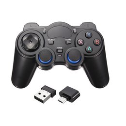 android tv box otg Australia - 2.4GHz Wireless Game Pad Android Gamepad Joystick With OTG Converter For Windows 8 7 XP For Tablet Phone For Android TV Box