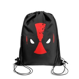 Diamond Cartoons UK - Drawstring Sports Backpack Deadpool head logo Splashing inkcute convenient sinch sack Travel Fabric Backpack