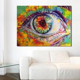 Art Canvas Prints Australia - 1 Piece Painting Wall Art Picture Big Eyes With Long Eyelashes Home Decor Living Room Modern Canvas Print No Frame