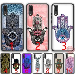 $enCountryForm.capitalKeyWord NZ - Hamsa Hand Amulet Psychedelic Soft Silicone Black TPU Phone Case for Huawei P8 P9 P10 P20 Lite Pro P Smart Cover