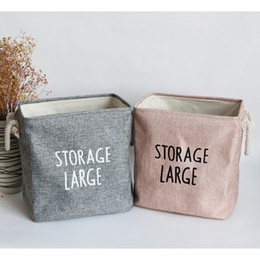 Sorting boxeS online shopping - Sundries Sort Out Storage Basket Beam Mouth Foldable Design Storages Box Imitation Thicken EVA Home Cloth Large Double Handle mgC1