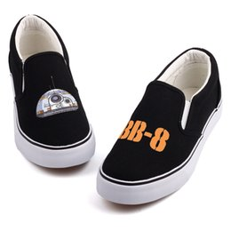New Design Star Movie Printed Men Boys Leisure Flat Slip On Canvas Shoes Low  Top Students Casual Loafers Streetwear Espadrilles b4ff846cbe9
