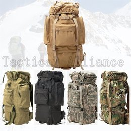 TacTical gear pack online shopping - 65L Waterproof Large Molle Tactical Men Women Rucksack Backpack Travel Camping Hiking Camouflage Bag Hunting Gear Accessories
