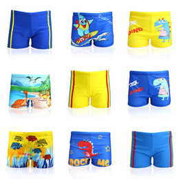 cc217bf7c0 Children's Swimming Suit Cute Cartoon Beaching Trousers Boys Hot Spring  Wear Swim Beach Pants Shorts With Cap for Kids 30