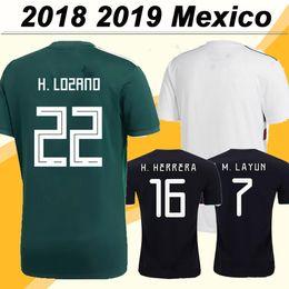 fc59bfc0b 2018 Mexico CHICHARITO H. LOZANO Soccer Jerseys GUARDADO Home Mens Away  Football Shirts 2019 National Team JIMENEZ H. HERRERA LAYUN Uniforms