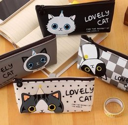 $enCountryForm.capitalKeyWord NZ - 2019 Kawaii Cat School Pencil Bags Cute Waterproof Pencil Case For Girls Kids Gift Korean Stationery Office School Supplies