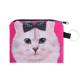 $enCountryForm.capitalKeyWord NZ - coin purses 3d printed Girl printing coins change purse Clutch zipper zero wallet phone key bags cat bag dog bag