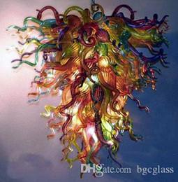 Itália Projetado Mão Lustre de Vidro Lustre de Cristal Moderno LEVOU Feita Sob Encomenda Murano Vidro Art Lustre De Vidro para Decoração de Casa venda por atacado