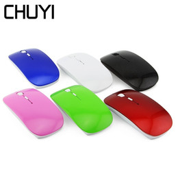 Ultra Thin Usb Optical Mouse Australia - CHUYI Ultra-thin Wireless Mouse USB Optical Computer Slim Mause 800-1200 DPI 2.4Ghz Gaming Mice With USB Receiver For PC Laptop