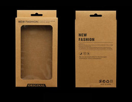 $enCountryForm.capitalKeyWord Australia - kraft brown Paper Retail Packaging Package Carton Box For iphone 8 7 6 Plus 5 Cell Phone Case middle size