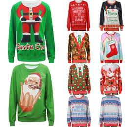 2b6050336e5d Ugly Christmas Sweaters Australia - 2019 Ugly Christmas Sweater Unisex Men Women  Vacation Santa Elf Pullover